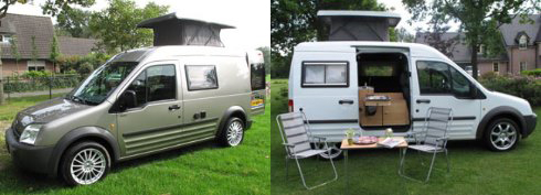 Ford Transit Connect Camper Pop Top